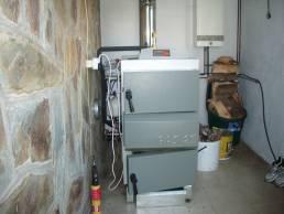 caldera de leña para calefacción