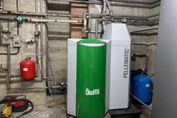 instalación caldera de pellets