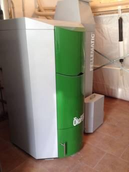 instalación pellets en gimnsio