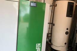 sustitución caldera de pellets